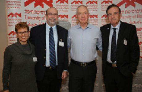פורום בכירי המשק של אוניברסיטת חיפה בהשתתפות השר יואב גלנט 2015